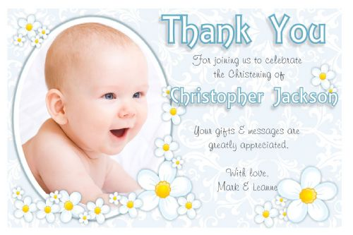 10 Personalised Thank You PHOTO Cards N213